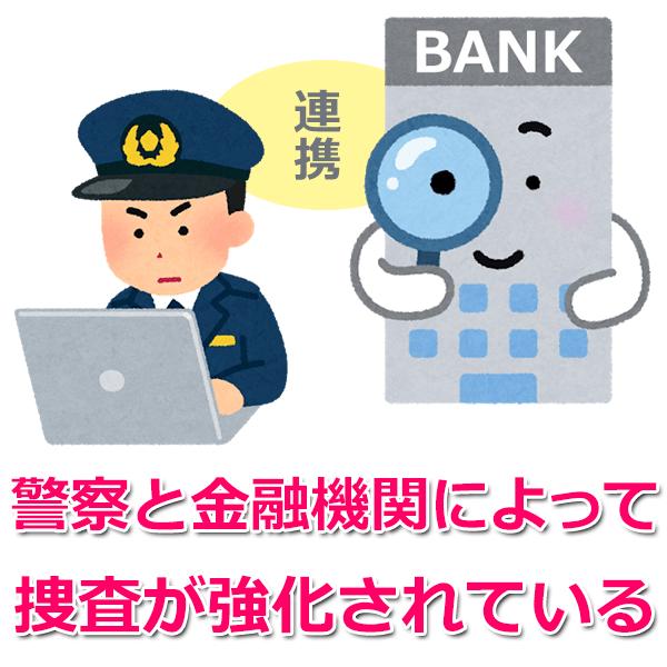 口座売買における警察の捜査