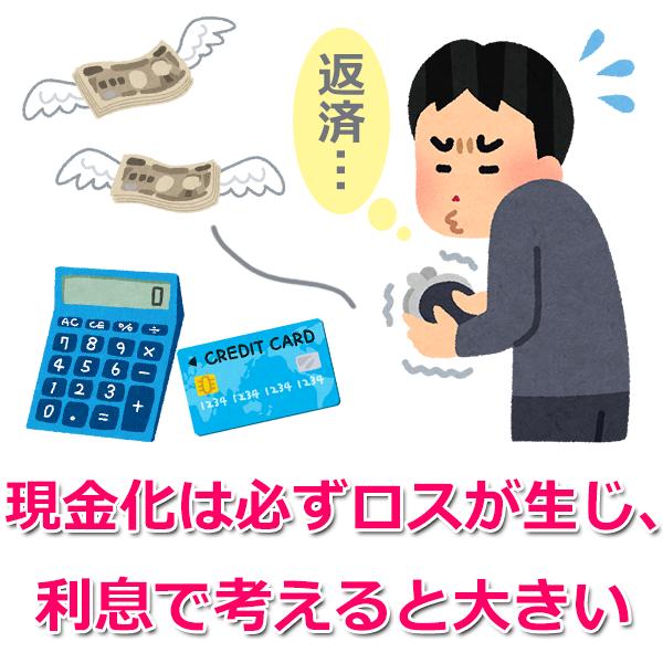 2.返済は「クレジットカードの利息+ロス」