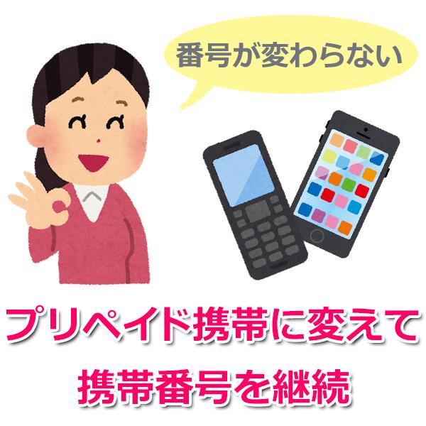 キャリアのプリペイド携帯ならMNP(モバイル・ナンバー・ポータビリティ)も可能