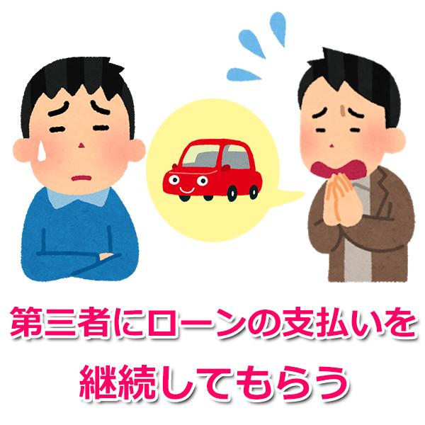 2.第三者にローンの支払いを継続してもらい、車を維持