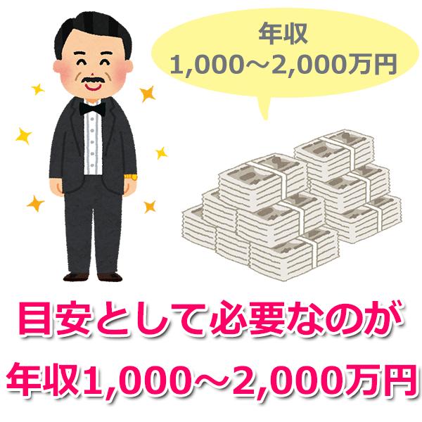 目安として年収1,000万~2,000万