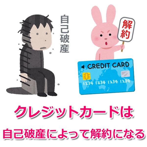 自己破産するとクレジットカードは解約になる?