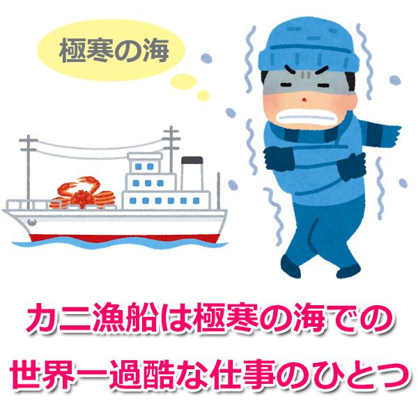 ベーリング海のカニ漁船は年収1億円超えもある