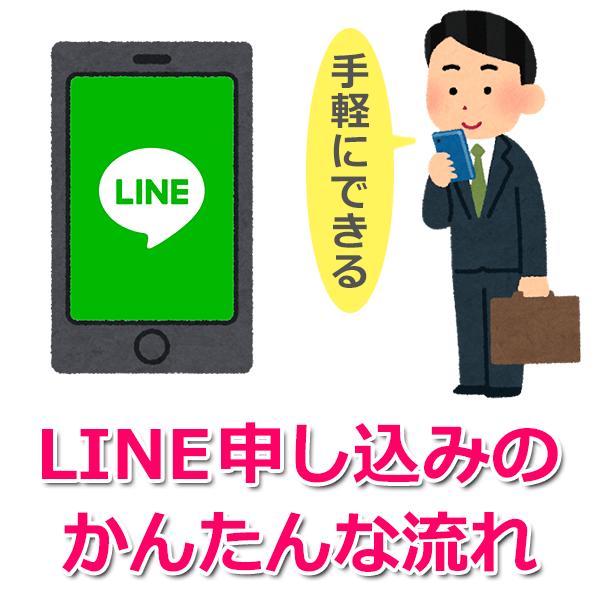 LINE(ライン)申し込みの流れ